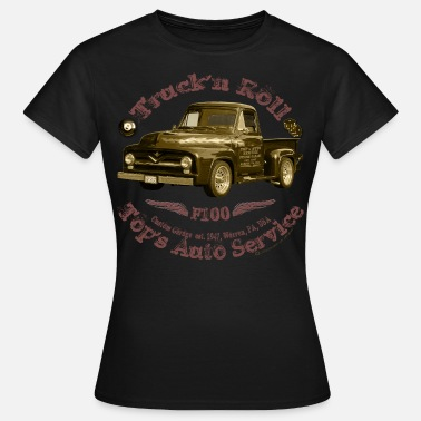 Hot Rod truck n roll 1955 f100 pickup vintage shirt Matic - Women's T-Shirt
