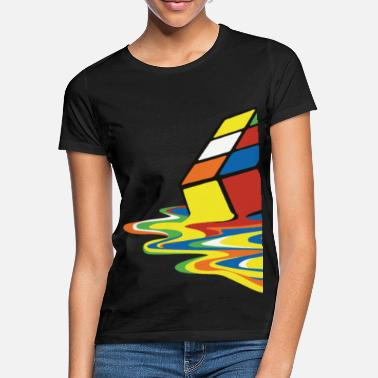 Big Bang Melting Rubiks Cube - Frauen T-Shirt