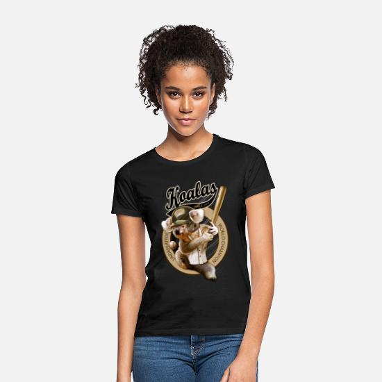 Baseball T-Shirts - KOALA RANGERS - Women's T-Shirt black