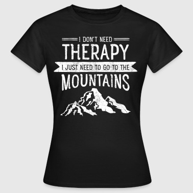Therapy Mountains | Vintage Retro Style - T-skjorte for kvinner