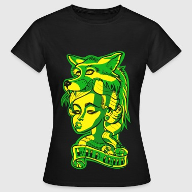 New Tatuaje Wild Child Tattoo / Tatuaje Edgy - Camiseta mujer