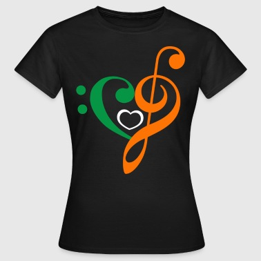 Irish Music Clef - Frauen T-Shirt