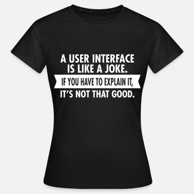 User A User Interface Is Like A Joke... - Women's T-Shirt