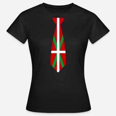 Drapeau Basque Cravate Basque - T-shirt Femme