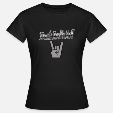 Mamie Rock Mamie Rock n Roll.png - T-shirt Femme