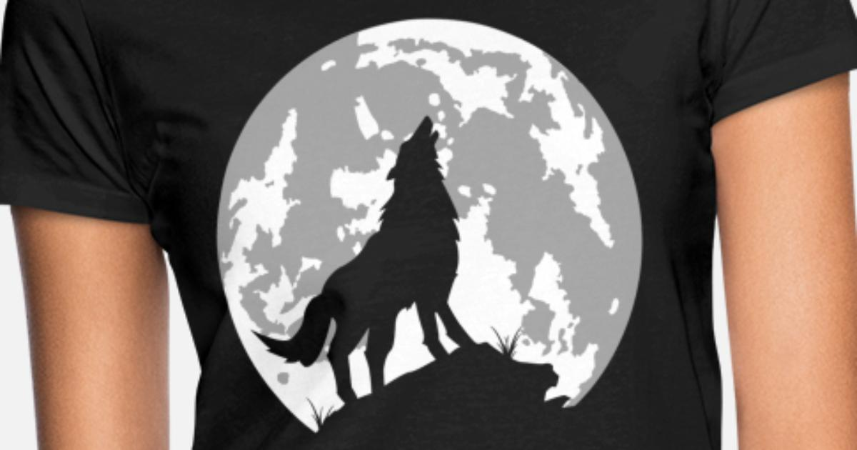 e636f275b8d loup lune T-shirt Femme