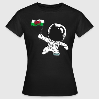 Walisisk Wales astronaut walisisk walisisk flag gave - Dame-T-shirt