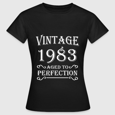 Vintage 1983 - Aged to perfection - T-shirt Femme