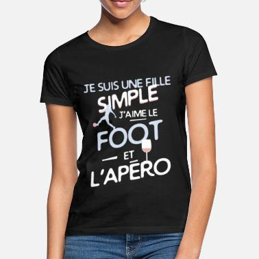 Football Football féminin / Footballeuse - une fille simple - T-shirt Femme