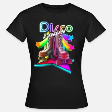 Retro 70s Disco Roller 3D - Women's T-Shirt