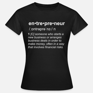 Motivational Definicja Entrepreneur Motivational Motiv Black - Koszulka damska
