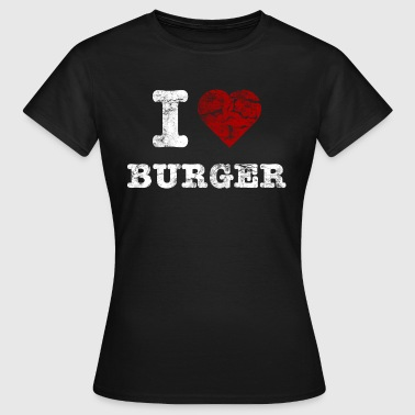 i love burger vintage light - Camiseta mujer