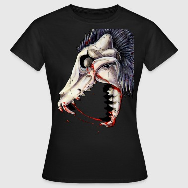Canine Skull -Up - Women's T-Shirt