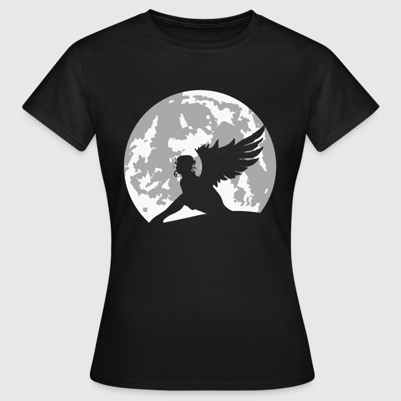 angel on moon - Women's T-Shirt