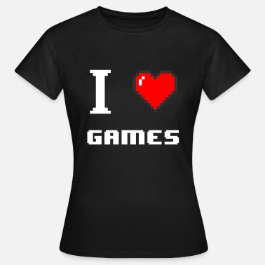 Games I Love Games - Heart I love games - Maglietta da donna