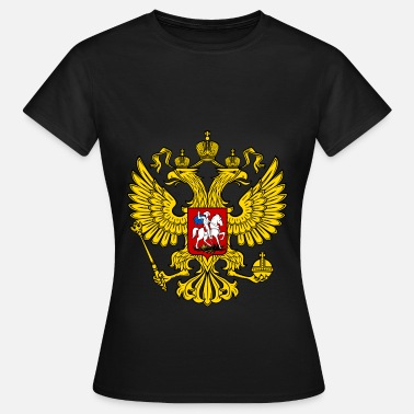 Russian Flag Russian Eagle Symbol - Frauen T-Shirt