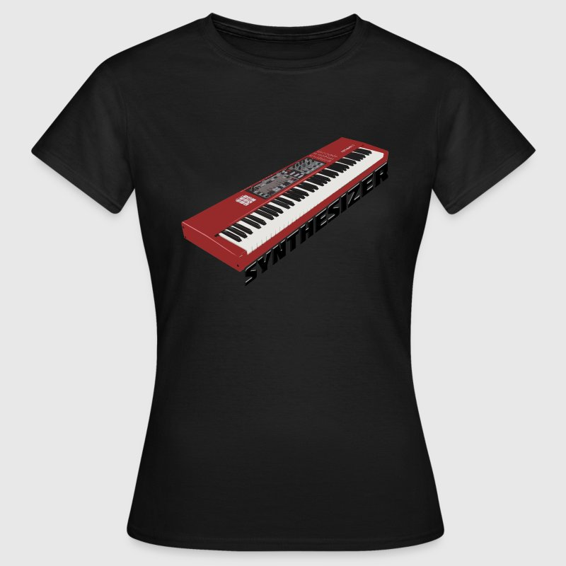 Synthesizer Electro Keyboard Design. - Frauen T-Shirt