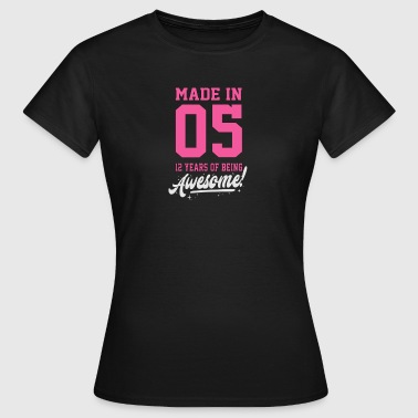 MADE IN 2005 - 12e anniversaire - T-shirt Femme