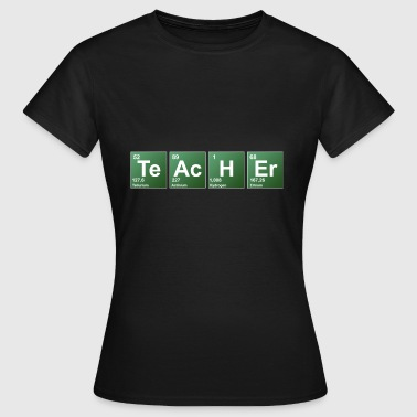Words Teacher periodic table of elements - Women's T-Shirt