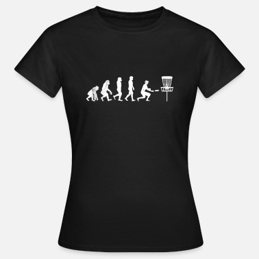 Ultimate Disc Golf Evolution TShirt Funny Darwin Evolution - Women's T-Shirt