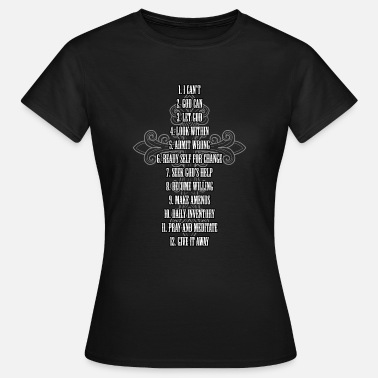Celebrate Celebrate Recovery TShirt Christian Cross 12 Step - Women's T-Shirt