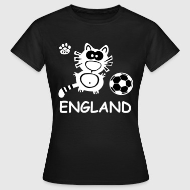 Catpaw Design Katze Kater England WM EM United Cat - Women's T-Shirt