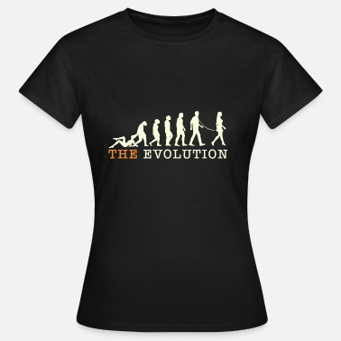 Leash Evolution on a leash. - Women's T-Shirt