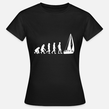 Zeilboot Zeilboot Gift Zeilboot Sailor Evolution - Vrouwen T-shirt