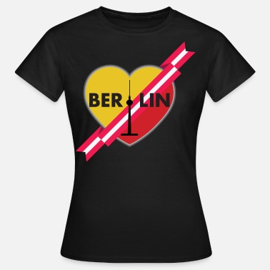 Yellow Ribbon Berlin Love Heart With Ribbon 1 - Women's T-Shirt