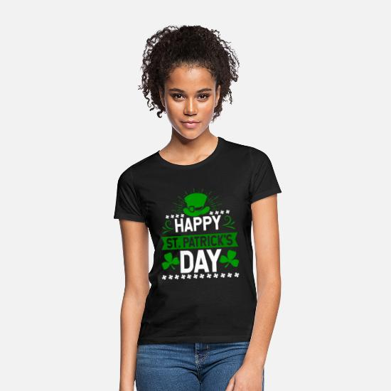 Day T-Shirts - Happy St. Patrick's Day holiday Ireland gift - Women's T-Shirt black