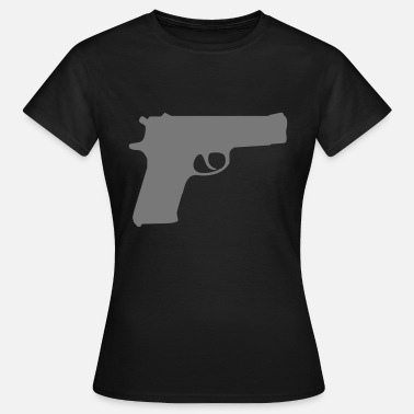 Gun gun weapon - Vrouwen T-shirt
