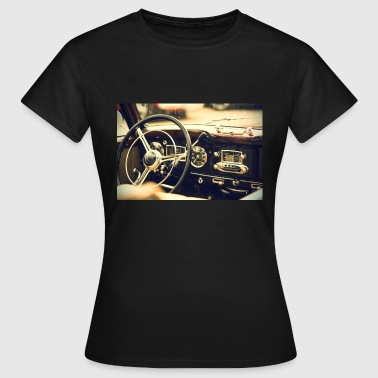 RETRO CAR VINTAGE steering wheel car - Women's T-Shirt