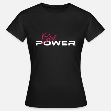 Nero Girls Rock Girl Power bianco rosa - Maglietta da donna