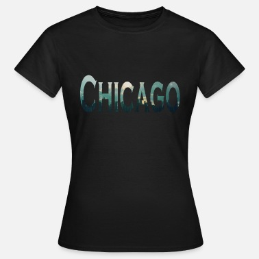 Metropol CHICAGO METROPOLE på Lake Michigan i Illinois - Dame-T-shirt