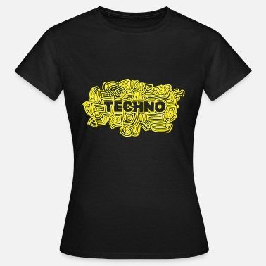 Psychedelic Black Light Techno Festival - Women's T-Shirt
