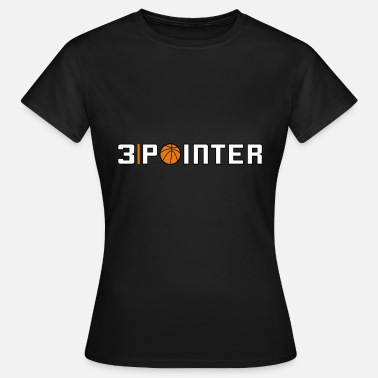 3 pointer basketball throw logo - Women's T-Shirt