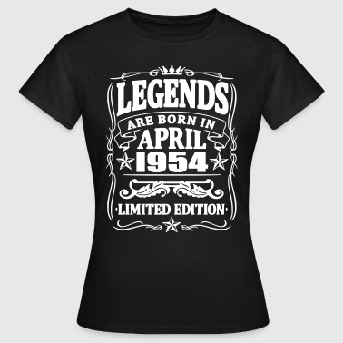 Legends are born in april 1954 - Women's T-Shirt