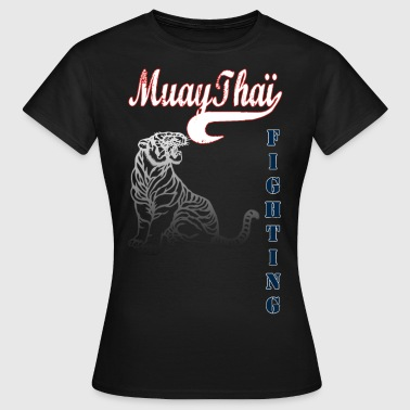 muay thai tiger fighting - T-shirt Femme