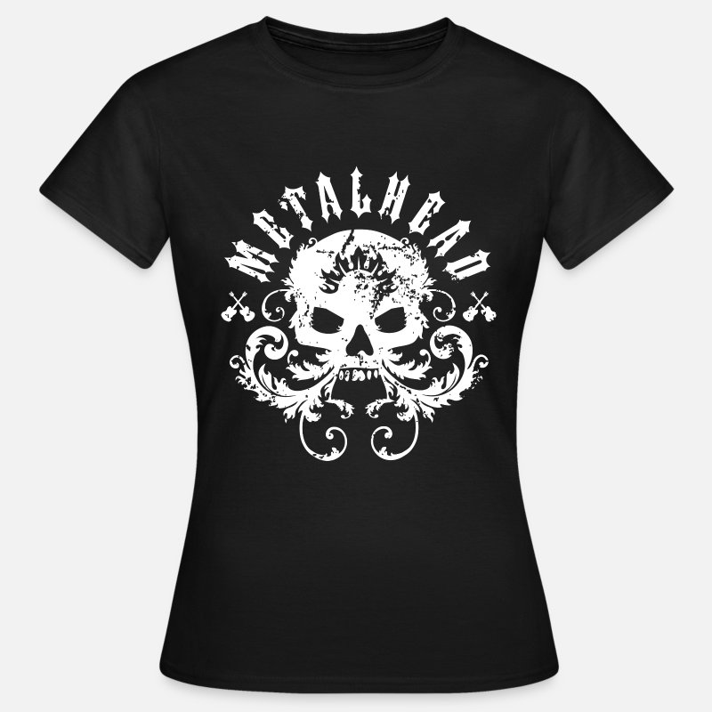 Skull T-Shirts - Metalhead - Women's T-Shirt black