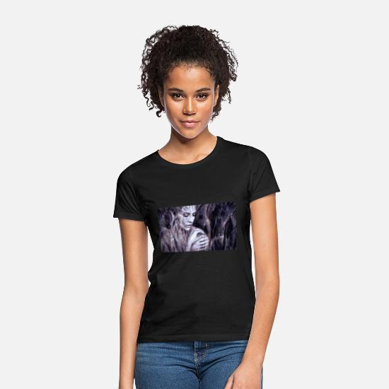 Fantasi T-shirts - Illustration composing 2391033 - T-shirt dam svart