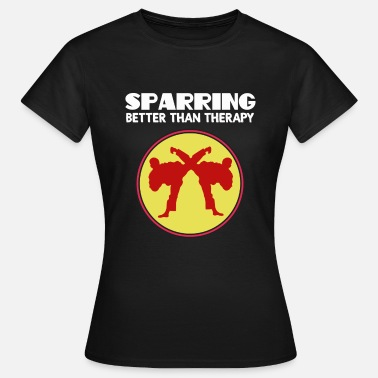 Sparring Fighterens Sparring Tshirt Design SPARRING BEDRE END THERAPY - Dame-T-shirt