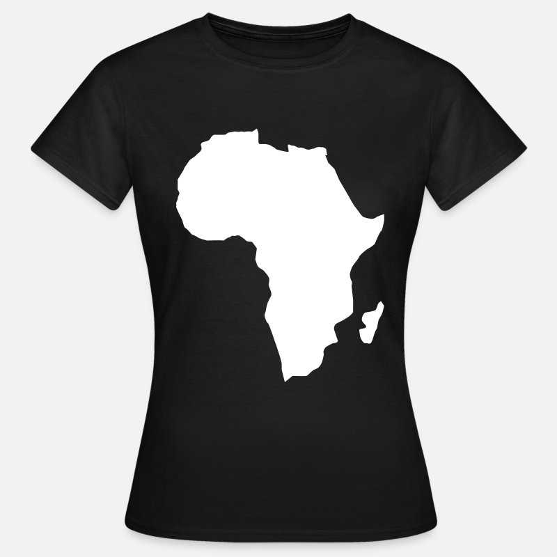 Continent T-Shirts - Africa the dark continent  - Women's T-Shirt black