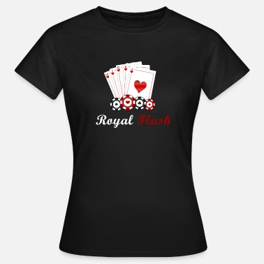Royal Flush Royal flush poker - Dame-T-shirt