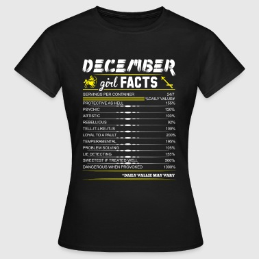 December Girl Facts Sagittarius - Women's T-Shirt