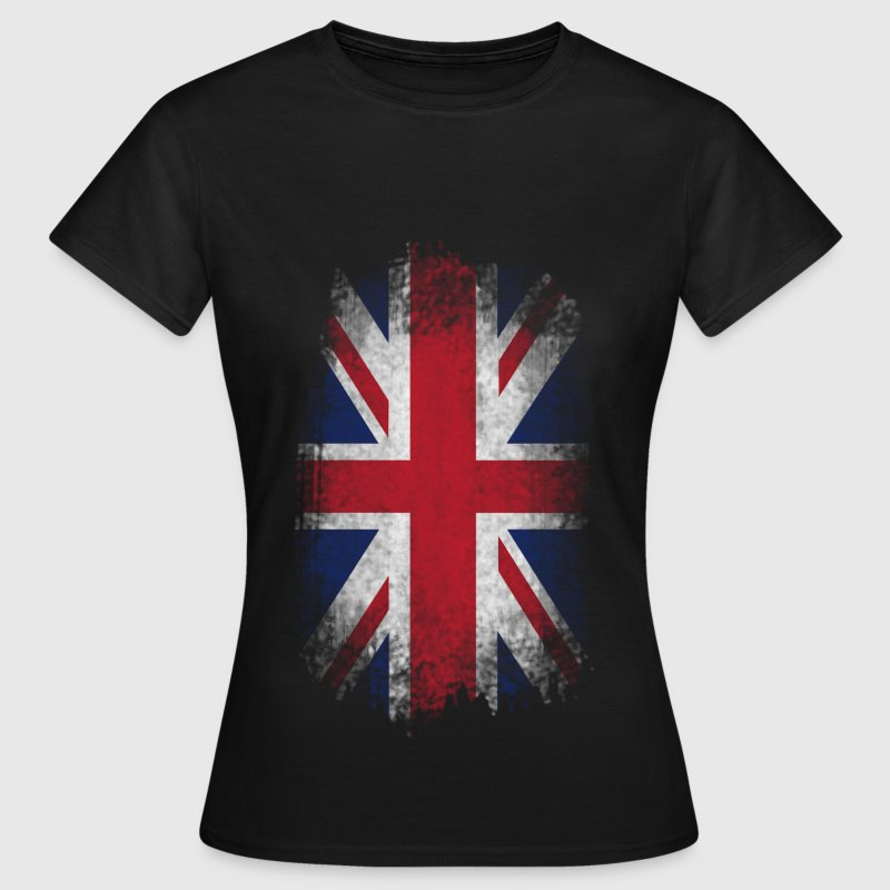 Eroded UK Flag - Frauen T-Shirt