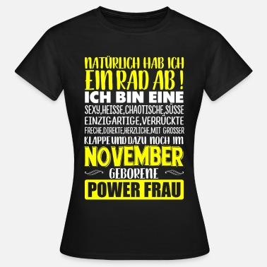 Geboren In NOVEMBER - Rad  - Frauen T-Shirt