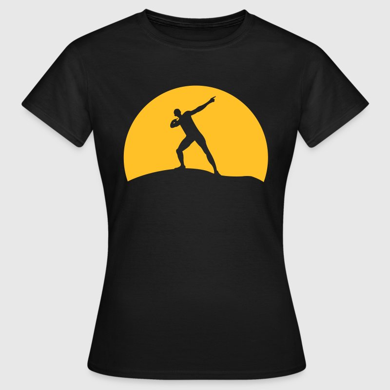 Usain Bolt before sunset  - Women's T-Shirt