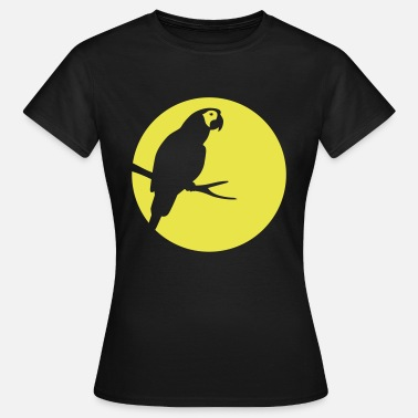 Parrot Silhouette Moonlight - Frauen T-Shirt