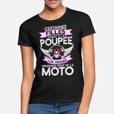 fa1969de82edb Les princesses moto t-shirt humour moto - T-shirt Femme