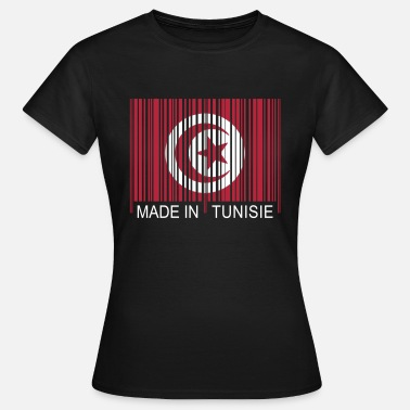 Tunisia Code barre Made in TUNISIE - Women's T-Shirt